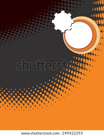 Abstract orange and black halftone background vector. - stock vector