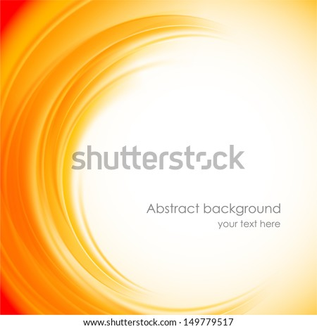 Abstract orange background - stock vector