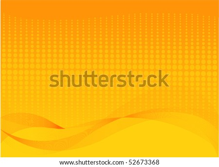 Abstract orange background with place for a text - stock vector