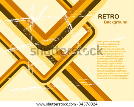 Abstract Orange retro background with room for copy - stock vector