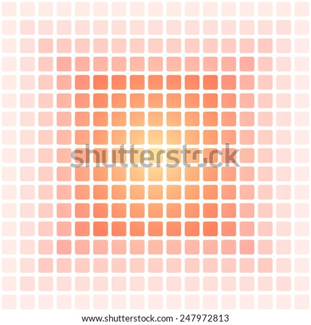 abstract orange square pattern background (vector) - stock vector