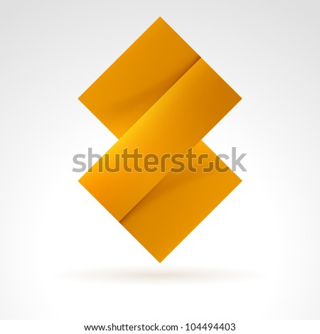 Abstract Orange Tile. Illustration on white for design - stock vector