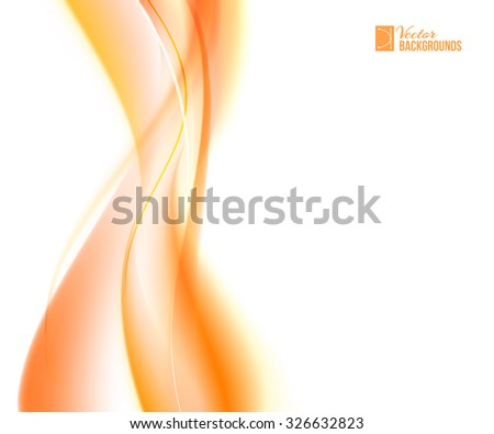 Abstract orange wind. Tender orange light abstract background.  Vector illustration, contains transparencies, gradients and effects. - stock vector