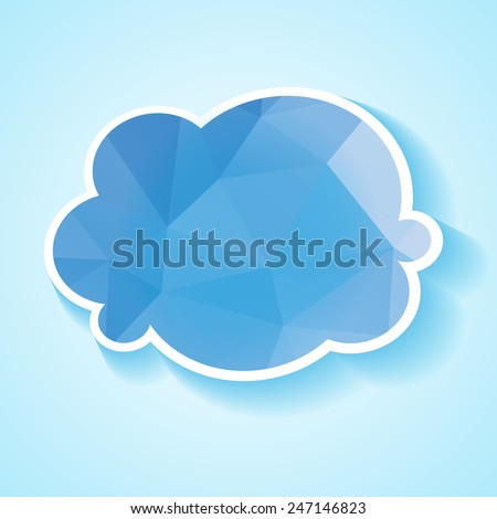 Abstract origami background with geometric polygonal cloud - stock vector