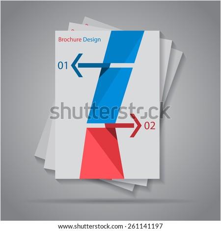 Abstract origami paper arrow banners design brochure / flyer, eps10 Vector. - stock vector