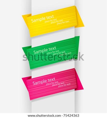 Abstract origami speech bubble vector background. - stock vector