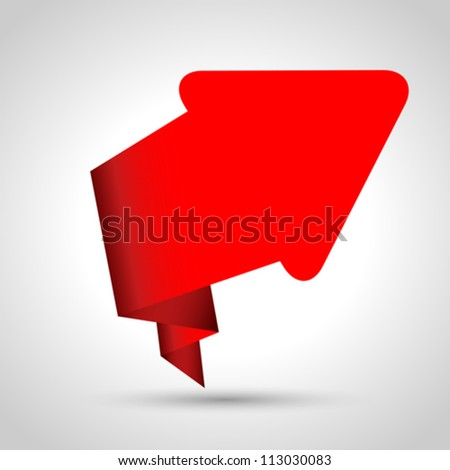 Abstract origami speech bubble vector background. Eps 10 - stock vector