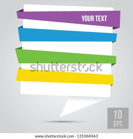 Abstract origami speech vector background - stock vector