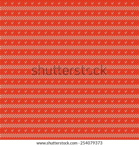 Abstract ornament on the wool knitted texture. Vector illustration - stock vector