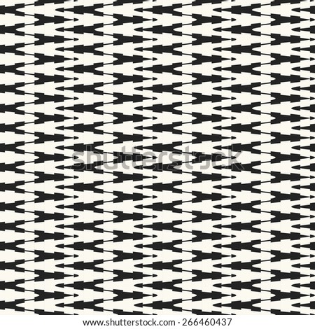 Abstract ornate elements zigzag textured background. Seamless pattern. Vector. - stock vector