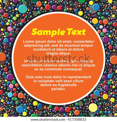 Abstract Paint Splashes Background. Ready for Your Text and Design. - stock vector