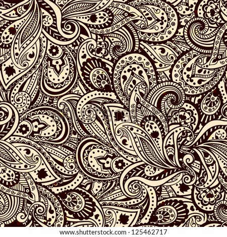 Abstract paisley pattern - stock vector