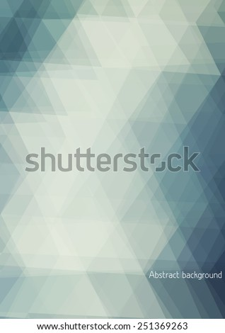 Abstract pale background textured by triangles. Vertical vector pattern - stock vector