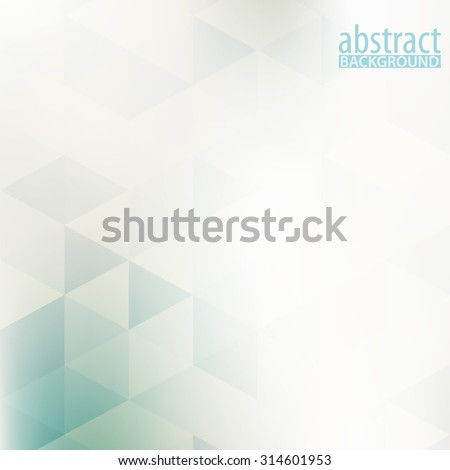 Abstract pale geometric pattern with triangles. Subtle vector background - stock vector