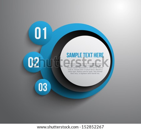 Abstract panel with paper banners for business design, infographics, reports, step presentation, number options, websites or workflow layout. Clean and modern style - stock vector