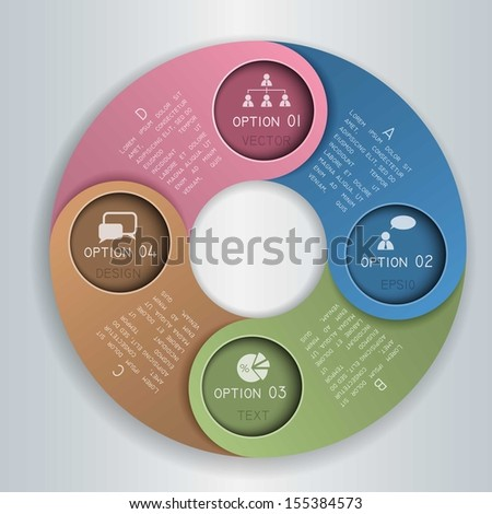 Abstract paper circles/Vector infographic template design  - stock vector