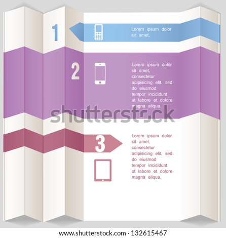 Abstract paper design. Can be used for infographics - stock vector