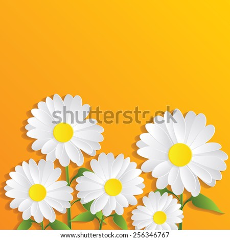 Abstract Paper flowers. Vector illustration - stock vector