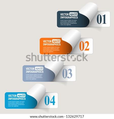 Abstract paper infografics. Vector eps10 illustration - stock vector