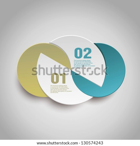 Abstract paper Infographics - stock vector