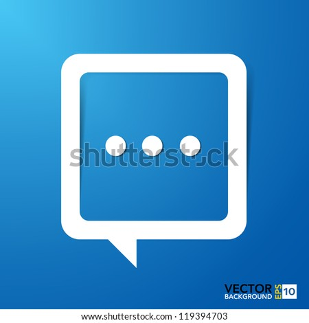 Abstract paper speech bubble background.Illustration - stock vector