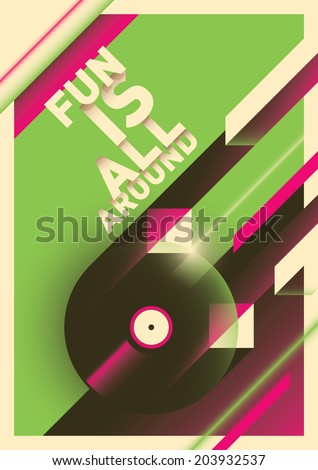 Abstract party poster. Vector illustration. - stock vector