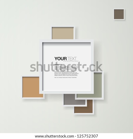 Abstract pastel color frames design vector background for your text - stock vector