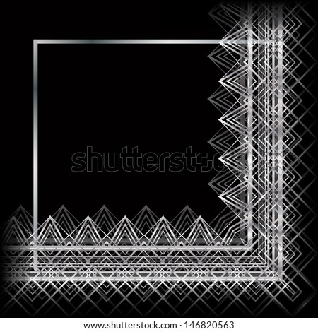 abstract pattern for the frame invitations, cards  - stock vector