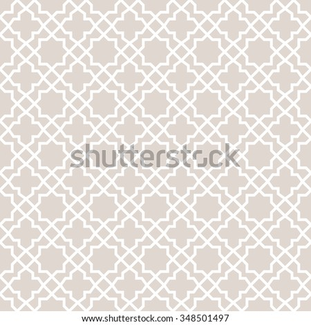 Abstract pattern in Arabian style. Seamless vector background. - stock vector
