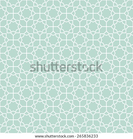Abstract pattern in Arabian style. Seamless vector background. Blue and white ornament. - stock vector