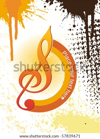 abstract pattern musical background - stock vector