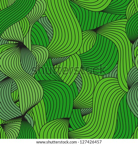 abstract pattern of green lines - stock vector
