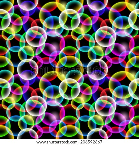Abstract pattern with colorful bubbles - stock vector