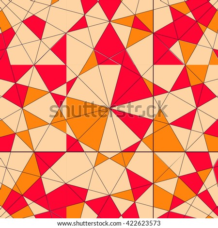 Abstract pattern with triangles in vector.  - stock vector