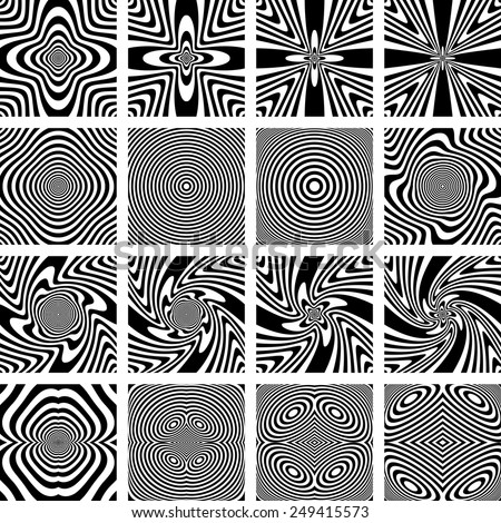 Abstract patterns. Design elements set. Vector art. - stock vector
