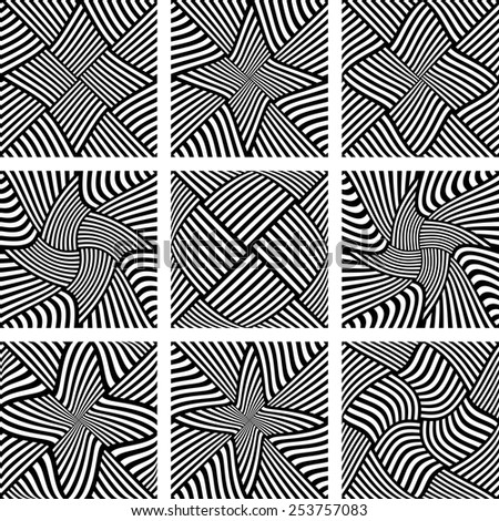 Abstract patterns set. Design elements. Vector art. - stock vector