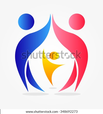 abstract people. Family. - stock vector