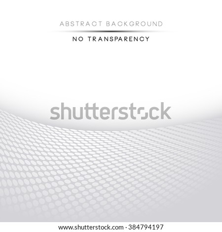 Abstract perspective background with white & gray tones - stock vector