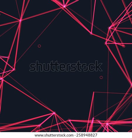 Abstract Pink Laser Light | EPS10 Vector Background - stock vector