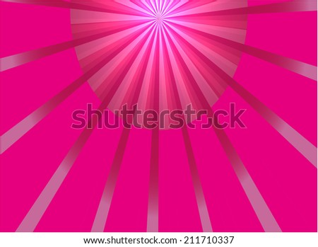 Abstract pink ray light background vector - stock vector