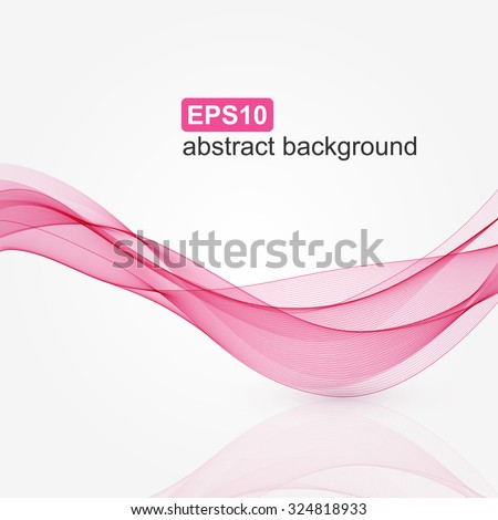 Abstract pink wave background. Vector illustration. - stock vector