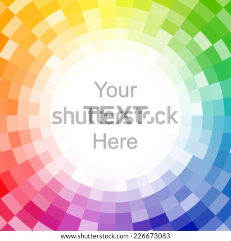Abstract pixelated color wheel. - stock vector