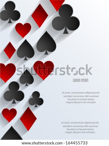 Abstract poker background. Vector eps10. - stock vector