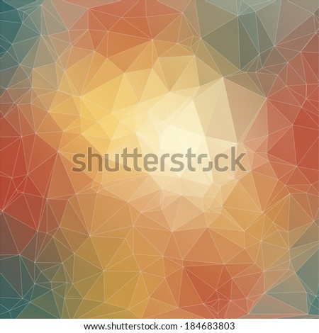 Abstract polygonal background. Triangles background for your design - stock vector