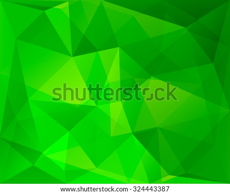 Abstract polygonal geometric background, green and yellowish colored, in vector - stock vector
