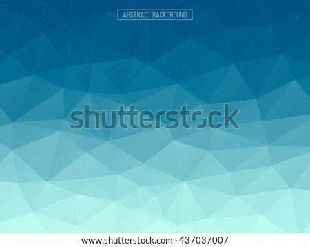 Abstract polygonal mosaic background. Vector illustration. Multicolor low poly gradient background. Blue crystal polygon background. - stock vector