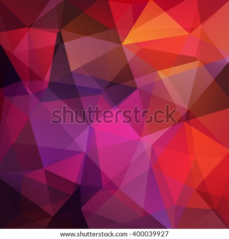 Abstract polygonal vector background. Colorful geometric vector illustration. Creative design template. Red, pink, purple, brown colors.  - stock vector