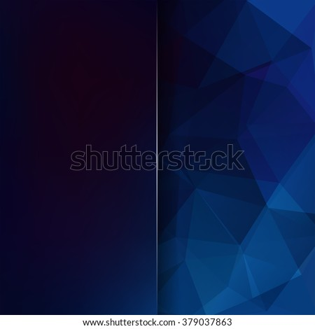 Abstract polygonal vector background. Dark blue geometric vector illustration. Creative design template. Abstract vector background for use in design - stock vector