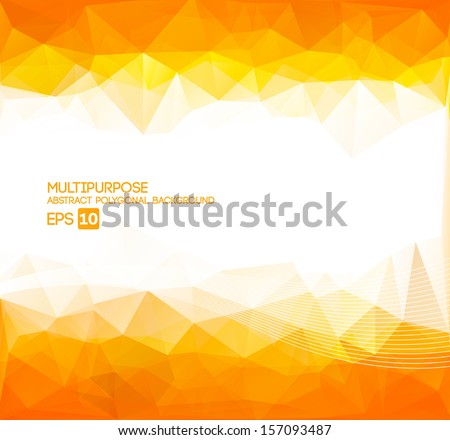 Abstract Polygonal Wallpaper  (orange) - stock vector