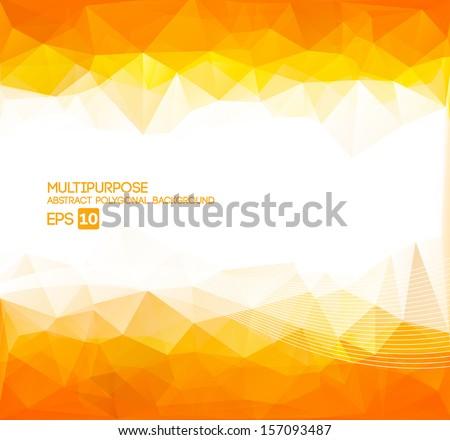 Abstract Polygonal Wallpaper  (orange) - stock vector